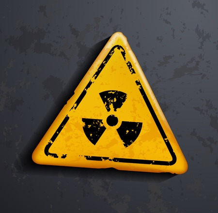 radioisotope: vector danger sign of radioactivity