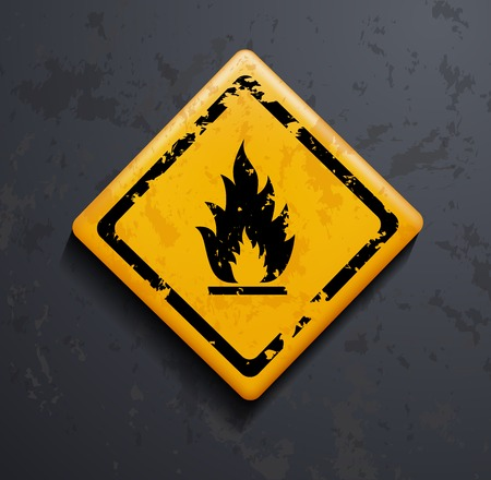 perilous: metal sign fire