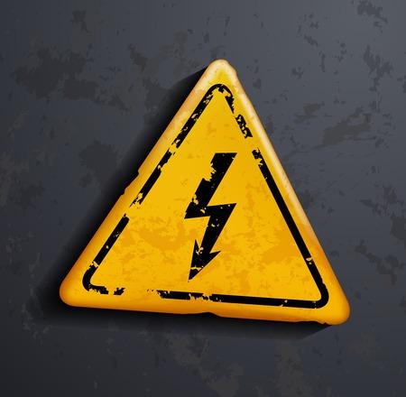 metal sign: metal sign high voltage