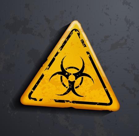 contaminated: biohazard sign Illustration