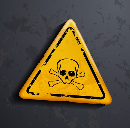 electricity danger of death: danger sign Illustration