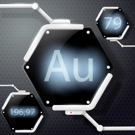 chemical element: chemical element gold Illustration