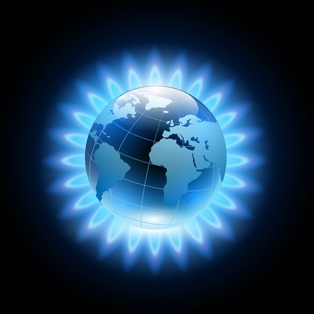 blue flame: blue flame around the planet earth