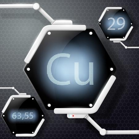 chemical element copper Illustration