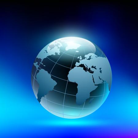 adivino: planeta tierra en forma de una bola de cristal