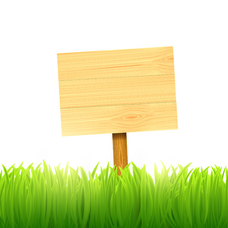 wooden board index Vector