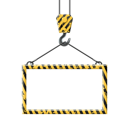 the hook: Industrial hook holding frame