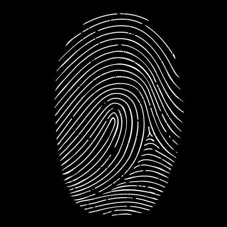 fingerprint isolated on a black background