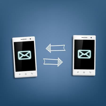 messages: transmission of messages between phones