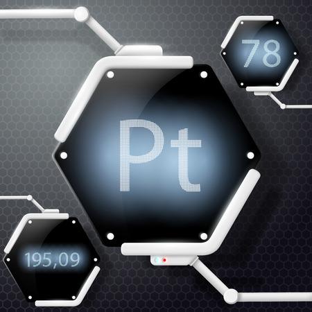 chemical element platinum Illustration