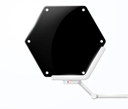 screen: futuristic screen honeycombs