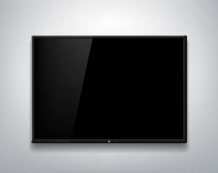 TV screen on the wall background Stock Illustratie