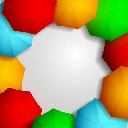 best shelter: Frame of colorful umbrellas Illustration