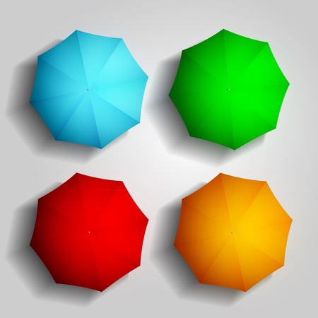 best shelter: colorful umbrellas