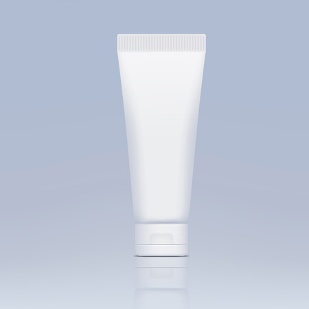 clean background: plastic tube for cosmetics