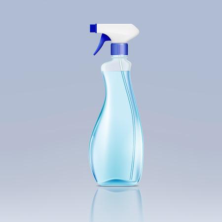 Kunststoff-Sprühflasche mit Reinigungsflüssigkeit