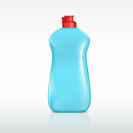 cleanness: plastic bottle of detergent Illustration