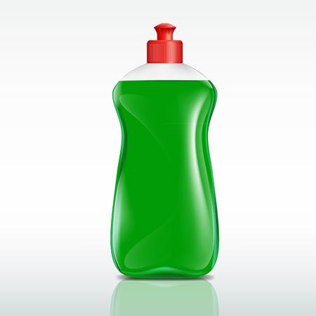 bright housekeeping: plastic bottle of detergent Illustration