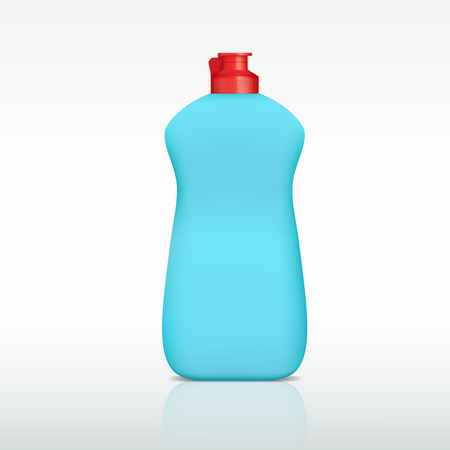 detergent: plastic bottle of detergent Illustration