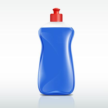 desinfectante: botella de plástico de detergente Vectores