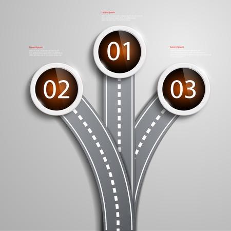fork road: bifurcaci�n en el camino Vectores