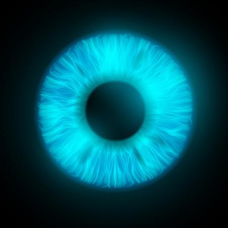 ojos azules: iris del ojo humano