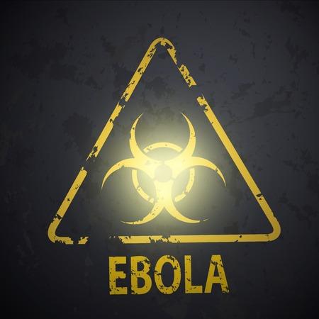 biohazard symbol on the wall Vector