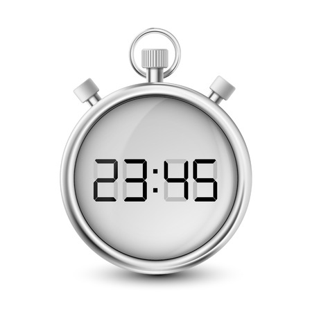 timescale: digital stopwatch isolated on white background Illustration