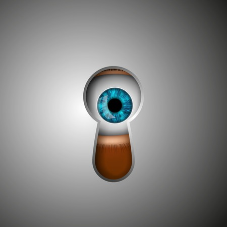 big brother spy: the human eye in the keyhole