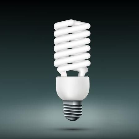 tungsten: Vector energy saving lamp.
