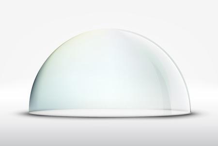 hemisphere: glass dome on white background Illustration