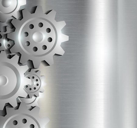 gear motion: metal background with gears Illustration