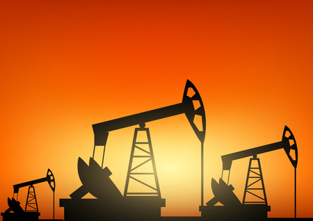industrial machine: Oil pump oil rig energy industrial machine Illustration