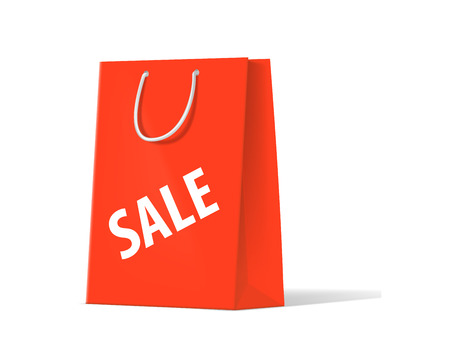 unprinted: shoplifting red handbag on a white background
