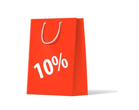 unprinted: robando el bolso rojo sobre un fondo blanco