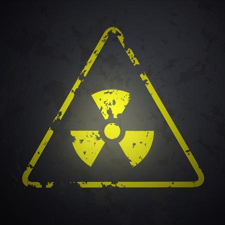 radiactividad: Muestra del vector del peligro de la radiactividad