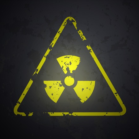 isotope: vector danger sign of radioactivity