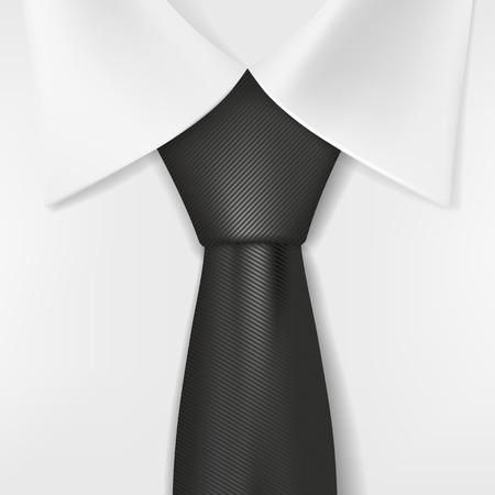black tie: white shirt and black tie