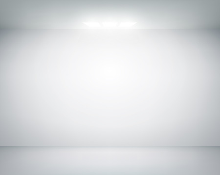 interior room: white wall on which shines a flashlight Illustration