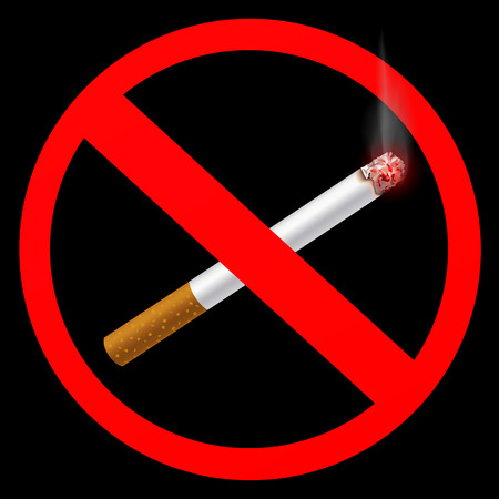 embers: sign prohibiting smoking Illustration