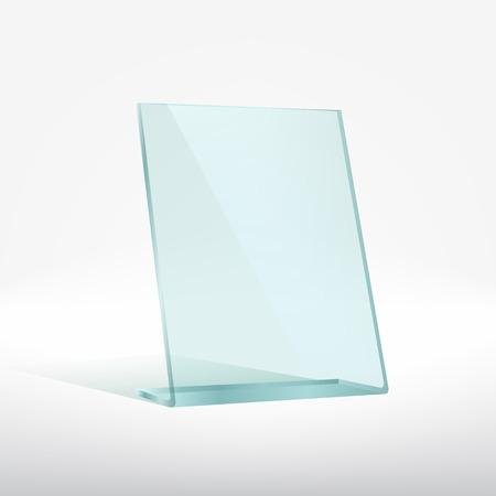 award trophy: Blank glass award plate