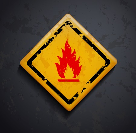 perilous: metal sign fire