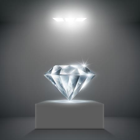 받침대에 다이아몬드 일러스트