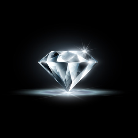 다이아몬드 검은 배경에 고립