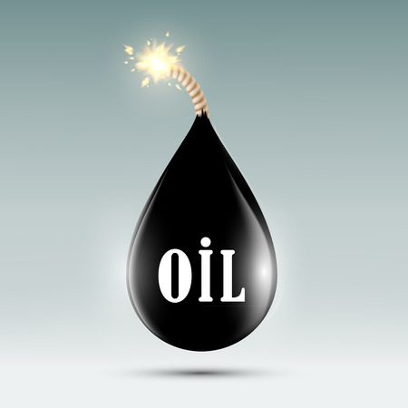 the wick: bomb with a wick in the form of oil droplets