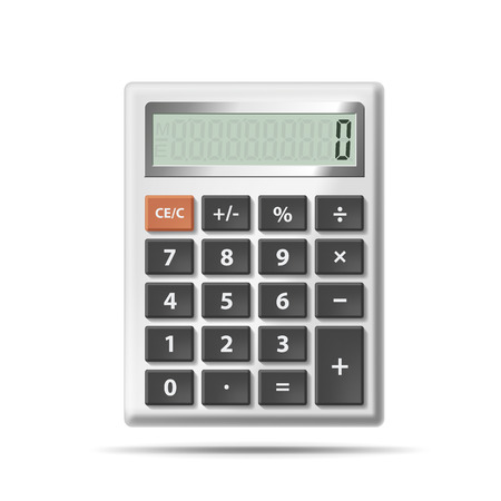 Vector calculator isolated on white background Vector