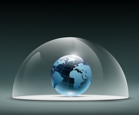 Earth under the dome Illustration