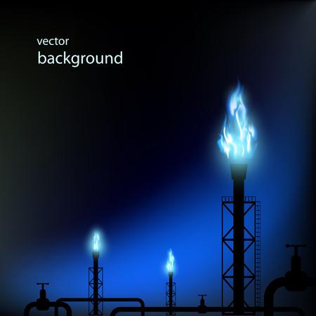 gran angular: tuber�as de gas con una llama azul