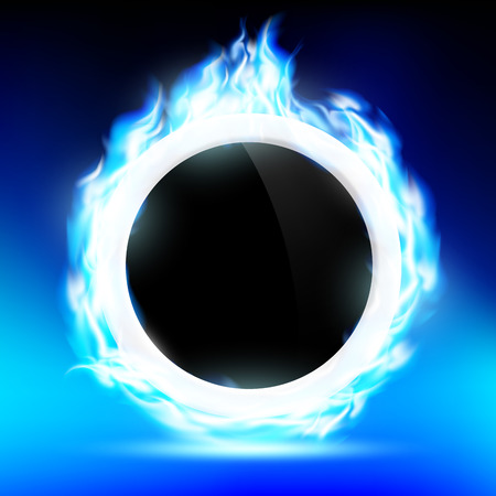 blue flame: The ring burns blue flame Illustration