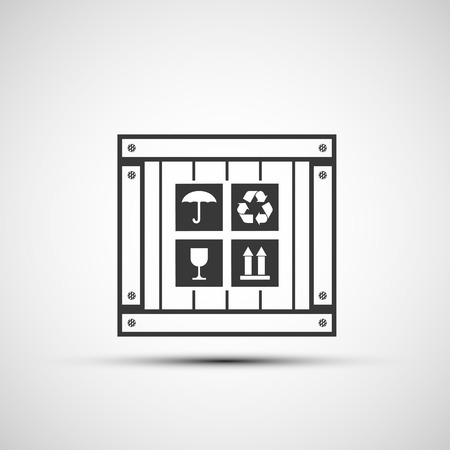 packer: Vector icons wooden box Illustration